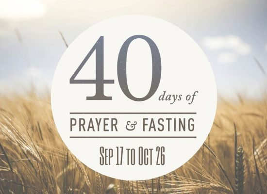 Today is Day 1 of 'Crusade of Prayer and Fasting'