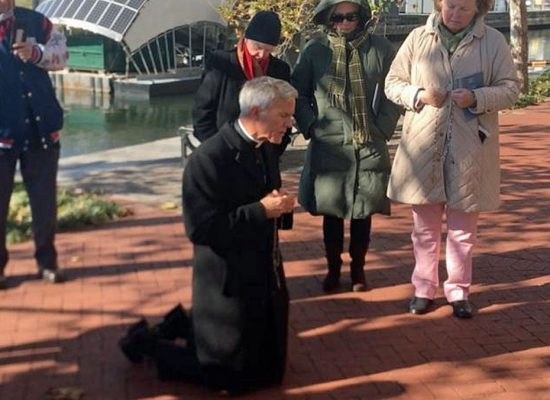 After U.S. Bishops Debate Downplaying Abortion, Bishop Strickland Leads Rosary Outside Conference