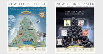 Which Poster Presents the Truth About the China Flu in New York?