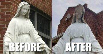 Allentown: Yet ANOTHER Statue of Mary Attempted to be Decapitated