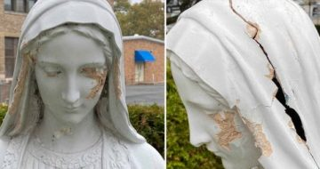 WATCH: Statue of Virgin Mary Vandalized in Brooklyn