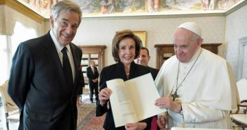 Pope Discusses Climate Change with Pelosi as Abortion Storm Rages in California